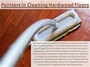 pointers in cleaning hardwood floors