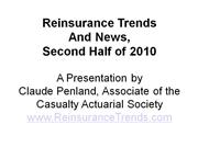 2010 Year-End Reinsurance Trends and News from ReinsuranceTrends.com