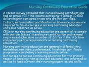 Nursing Continuing Education Guide