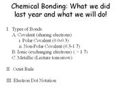 Dressen-Chemical Bonding Outline