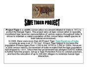 save tiger project