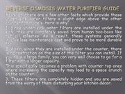 Reverse Osmosis Water Purifier Guide