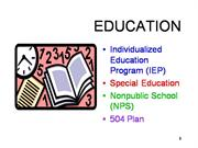 IEP SP ED NPS final