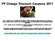 PF Changs Discount Coupons 2011