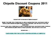 Chipotle Discount Coupons 2011