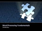Word Processing Fundamentals Vocabularyvideo