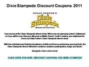 Dixie Stampede Discount Coupons 2011