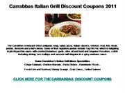 Carrabbas Italian Grill Discount Coupons 2011
