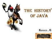 the histroy of java