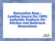 renovation boys - 100% authentic products