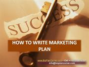 how to write marketing plan