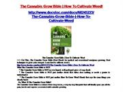 the cannabis grow bible | how to cultivate weed