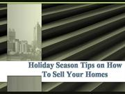 holiday season tips on how to sell your homes