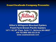 Coast Seafoods Company Presents