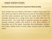 Cheap Water Filters