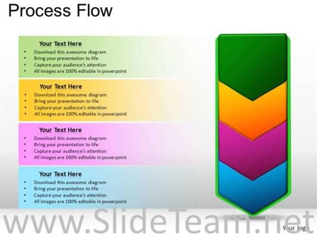 Marketing Process Flow Chart Diagram-PowerPoint Diagram