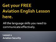 FREE Aviation English Lesson part 1