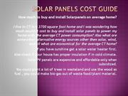 Solar Panels Cost Guide