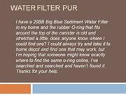 Water Filter Pur