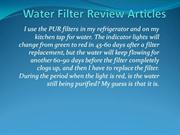 Water Filter Review Articles