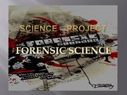 FORENSIC SCIENCE PROJECT BY RAKSHANDA PALANDE