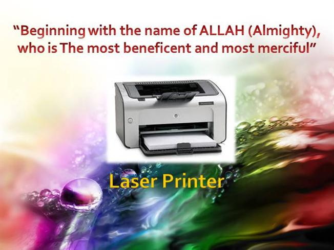 Printer and its type.