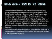 Drug Addiction Detox Guide
