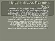 Herbal Hair Loss Treatment Guide