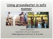 groundwater conservation
