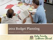 HTLC 2011 Budget Planning -- Survey Results