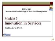 Module 3 - IT and Service Innovation
