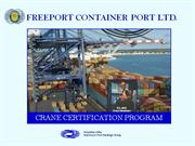 Crane Certification Program