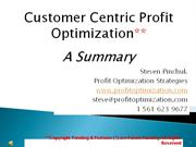 Summary: Customer Centric Strategies