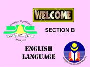 english language paper 2: section b
