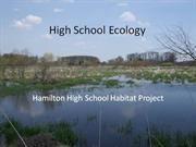 hamilton high school prairie habitat project