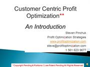 Introduction: Customer Centric Strategies Details