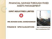 financial savings through fixed asset management