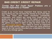 Bad Credit Credit Repair