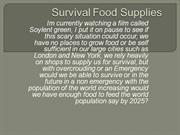 Survival Food Supplies