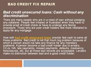Bad Credit Fix Repair