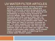 Uv Water Filter Articles