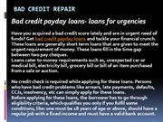 Bad Credit Repair
