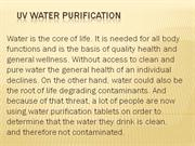 Uv Water Purification