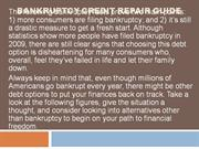 Bankruptcy Credit Repair Guide