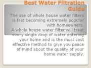 Best Water Filtration Guide