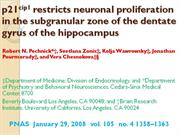 p21cip1 restricts neuronal proliferation in the subgranular zone