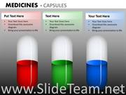 medical treatment with filled capsules