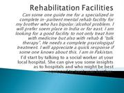 Rehabilitation Facilities