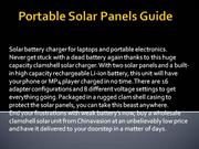 Portable Solar Panels Guide