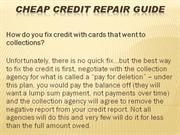 Cheap Credit Repair Guide